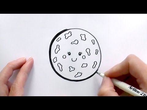 How to Draw a Cartoon Chocolate Chip Cookie
