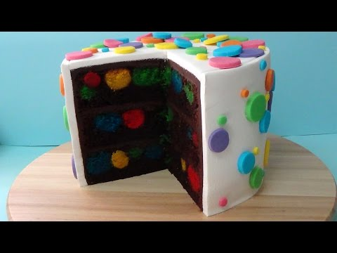 how to make polka dot devil's food cake step by step