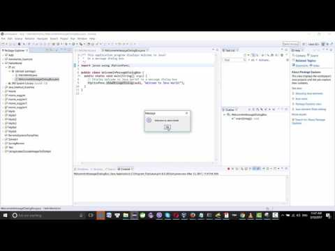 Java Example: Displaying Text in a Message Dialog Box