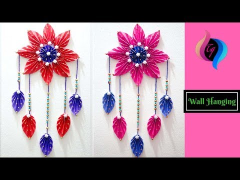 How to make easy paper wall hanging - Paper wall hanging decorations for diwali - Paper craft