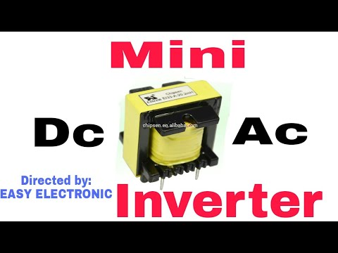 Dc to A c  Mini inverter  with battery for home