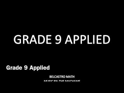 Grade 9 Applied