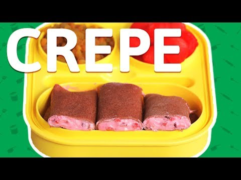 Fruit 'n' Cream Crepes Recipe - French Style Crepes Recipe At Home - Tiffin Box Recipe For Kids