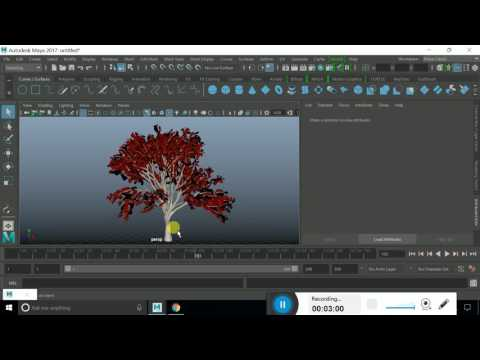Paint Effect Flow Animation and Rendering with Arnold Skydom light  in Autodesk Maya 2017