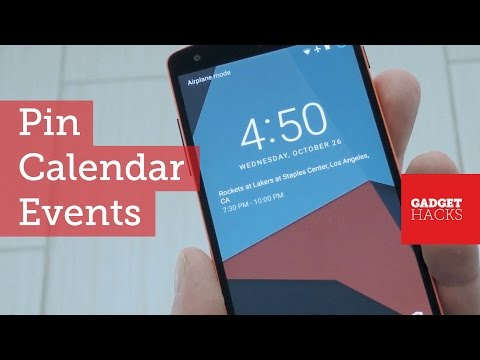 Pin Your Upcoming Calendar Events to Android's Lock Screen [How-To]