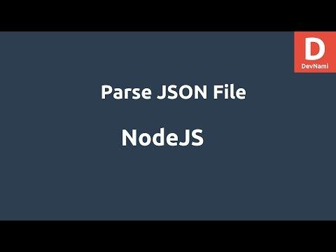 NodeJS Parse JSON File