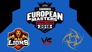 MAD Lions E.C. vs Ninjas in Pyjamas | EUROPE MASTERS FINAL !!! Best Highlights !!