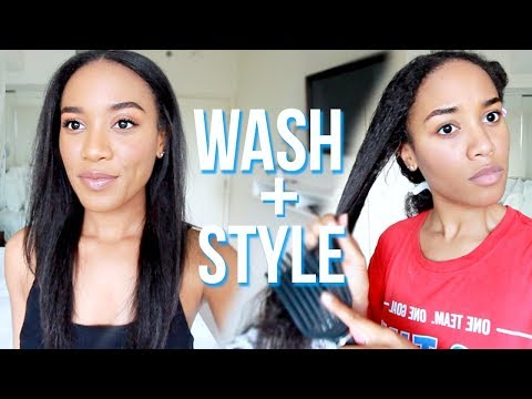 Wash + Style My Hair With Me 🙆🏾