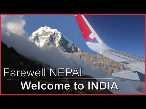 Goodbye Nepal & welcome back to India! Kathmandu to Mumbai India flight.
