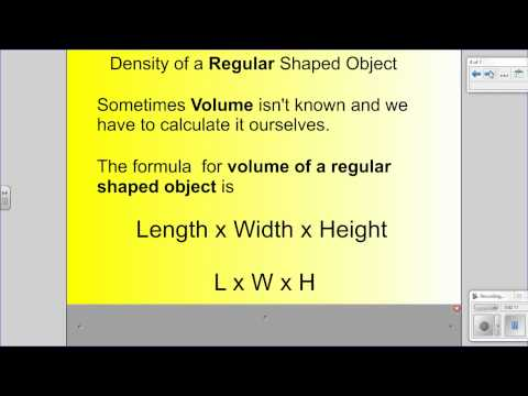 Learn how to calculate density of a regular shaped object (2/3) - 6th grade TEKS 6.B