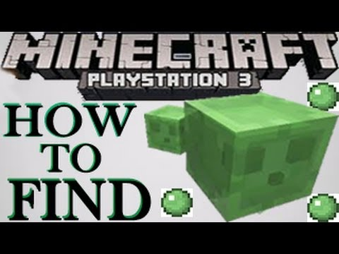 Minecraft ( Wii U / PS3 / XBOX ) - How to Find Slimes Easy in Survival - PlayStation 3 Tutorial