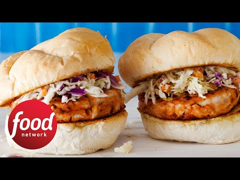 Rachael's BBQ Chicken Burgers | Food Network