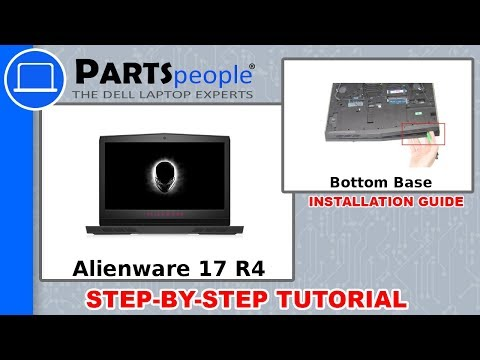 Dell Alienware 17 R4 (P12S001) Bottom Base How-To Video Tutorial