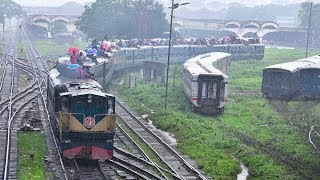 Overcrowded Train in Rain- Karnaphuli Express Train of Bangladesh Railway
