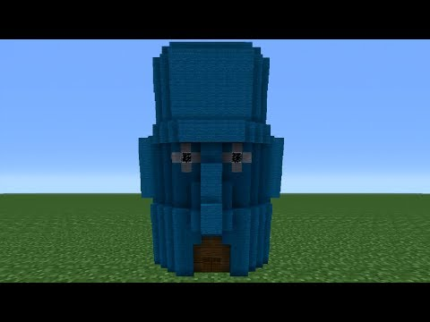 Minecraft Tutorial: How To Make Squidwards House