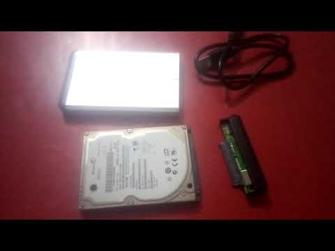 How to convert laptop hard drive into USB portable drive.(Urdu/Hindi)
