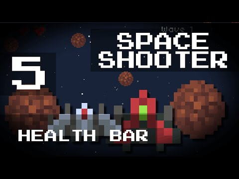 [Game Maker Tutorial] Easy Space Shooter - 5: Health Bar