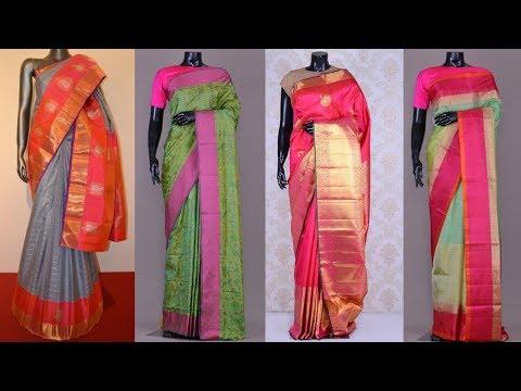 Latest Pure Kanchipuram Handloom Silk Saree Designs - She Fashion