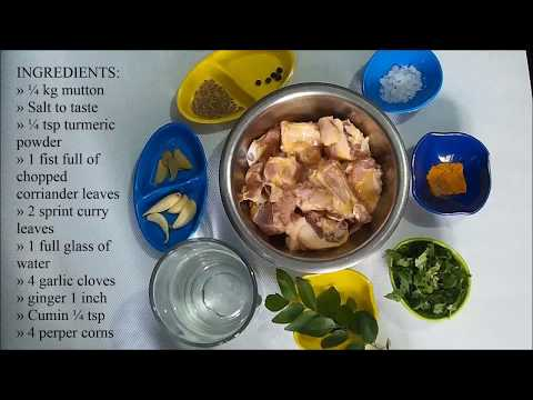 How to make mutton soup for babies, infants and kids | learn to cook mutton soup in 3Mins