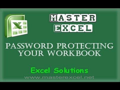 Excel 2010/2013 Password Protecting Your Workbook