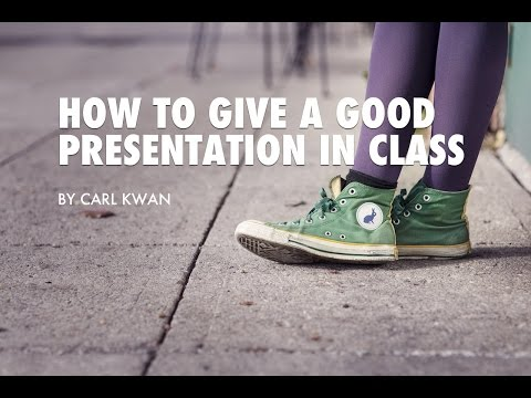 How to Give a Good Presentation in Class - 3 BIG Questions Answered