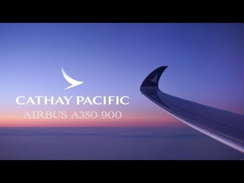 Cathay Pacific A350-900 Business Class | HONG KONG to NEW YORK EWR
