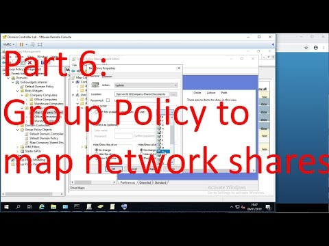 Part 6: Group Policy Drive Maps - Basic Windows Server and Active Directory Admin