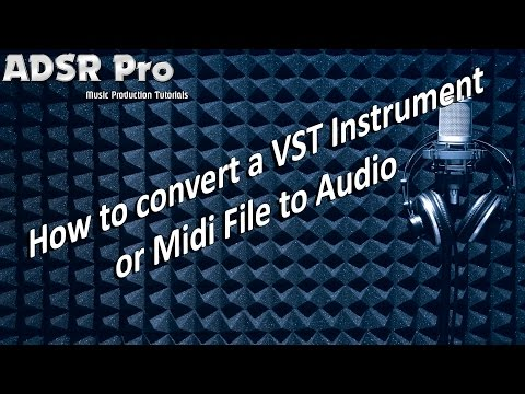 How to convert a VST Instrument or Midi file to Audio in Steinberg Cubase