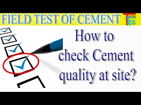 Quality report for cement | Field test of cement and report making