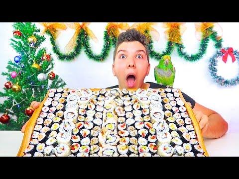 100 SUSHI CHALLENGE • Mukbang & Recipe