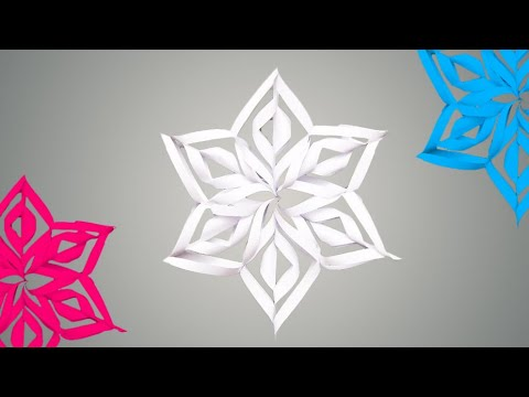 DIY 3D Snowflakes - How to Make 3D Paper Snowflakes 2018