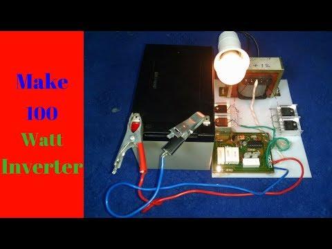 how to make inverter 12v to 220v 200Watt step by step FULL video