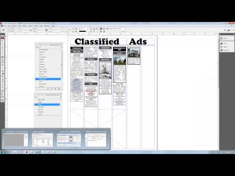 Flowing Fake Brains AccountScout Newspaper Software Classifieds into InDesign