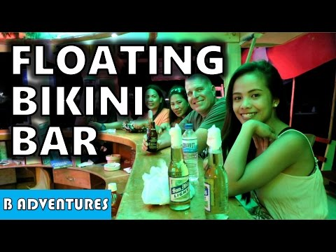 Bikini Floating Bar, Sabang Philippines S4, Vlog 29