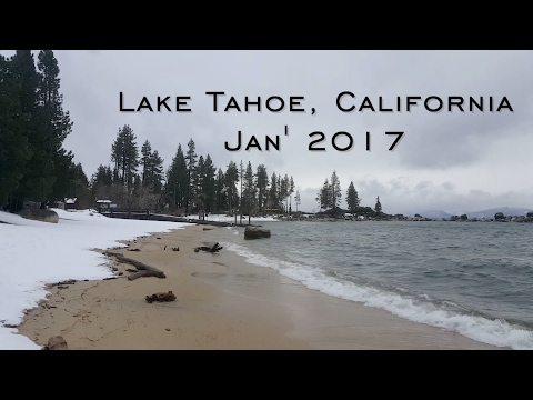 Beautiful Lake Tahoe drive during snow 2017 (Jeep 4WD)