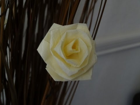 How to make a rose with tissue paper slow version / Valentine's day craft