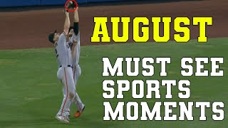 August 2021 Must See Sports Moments | Best Plays & Bloopers