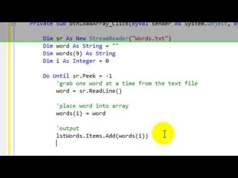 How to transfer data from a text file into an array