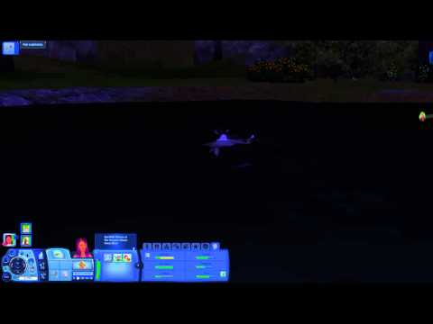 Sims 3 shark in pond