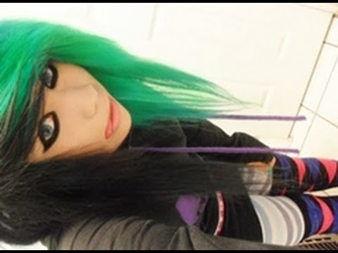 HOW TO DYE HAIR GREEN AND BLACK