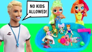 Download LOL Surprise OMG Big Sisters Pool Party Lifeguard Says No Kids Allowed! Video