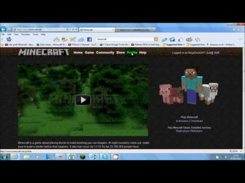 Minecraft: How To Upload A Skin To Minecraft.
