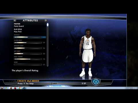 How to get 99 overall in nba 2k14 before rookie showcase