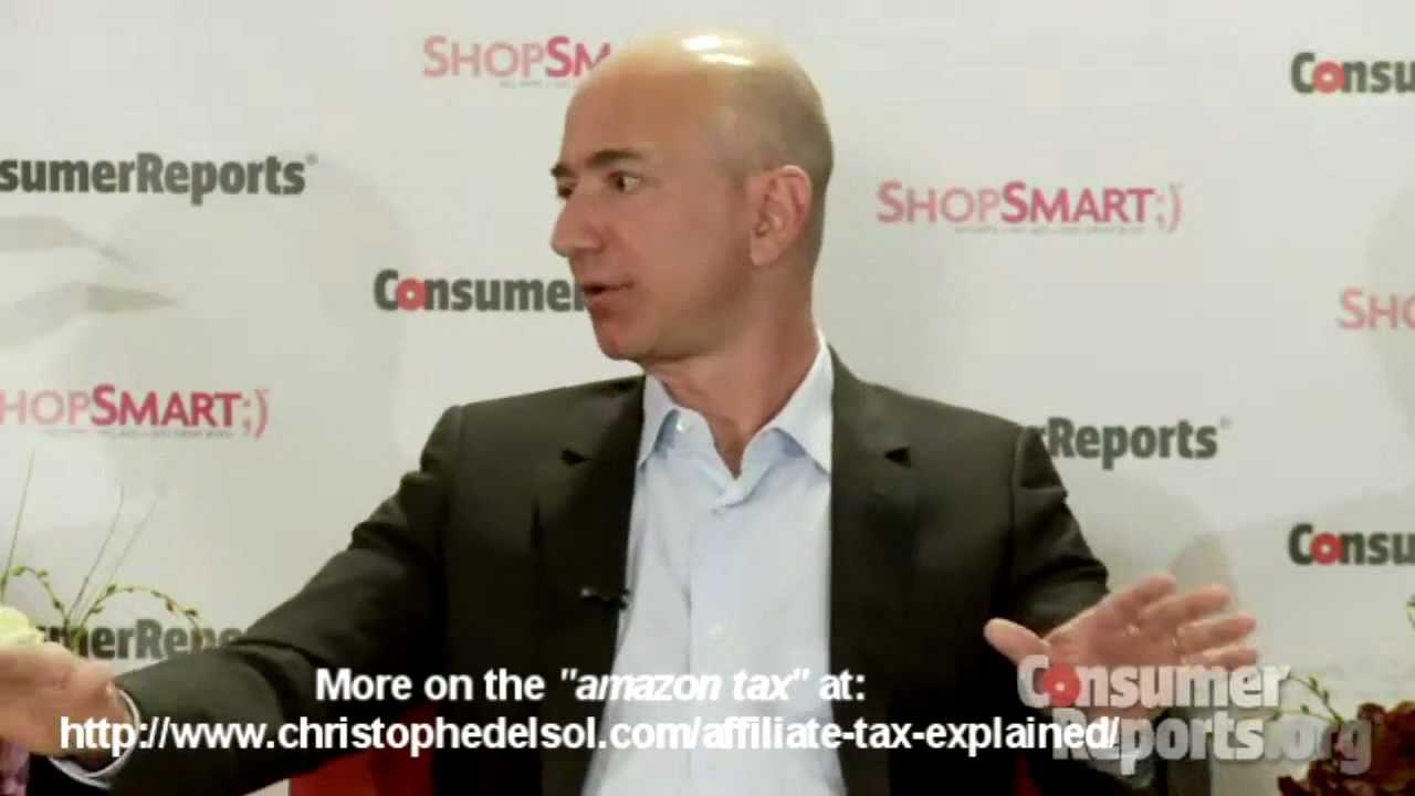 Amazon CEO Jeff Bezos on the so called affiliate tax or amazon tax