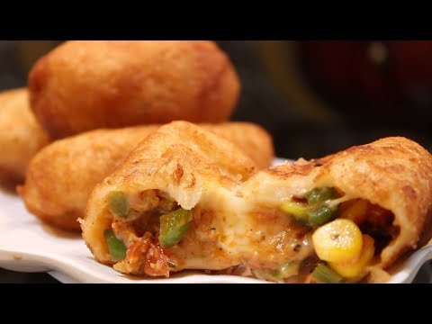 Bread Pizza Rolls | Home Made Bread Pizza Rolls For Kids