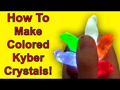 How To Make Colored Kyber Crystals! (Star Wars DIY)