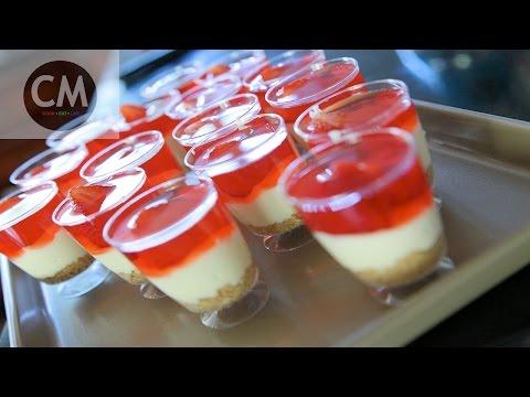 Strawberry Cheesecake Shot Glasses