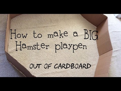 How To Make A Hamster Playpen From Cardboard Boxes