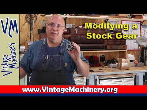 Modifying a Stock Gear for an Antique Drill Press