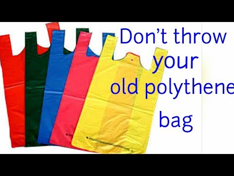 DIY | Unbelievable reuse of old Polythene/ Plastic bag at home | Best out of waste